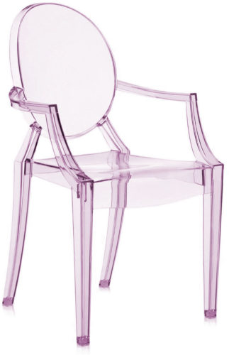 Louis Ghost Chairs are available in a variety of beautiful translucent and transparent colors.