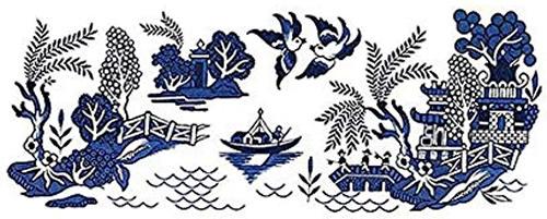 Blue Willow Decals - Blue Willow Bathroom Accessories - myDesign42
