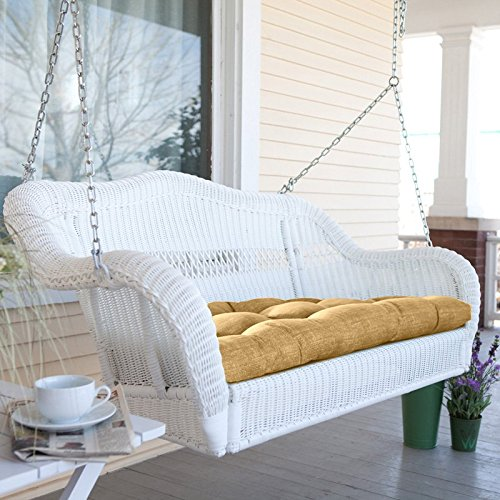 "Coral Coast Casco Bay Resin Wicker 43"" Porch Swing - This porch swing has the look of traditional wicker made of resin at a very affordable price. It is smaller. More of a love seat size, at 43 inches. - How to choose a relaxing Porch Swings that fits your budget and personalize it to fit your style – mydesign42"