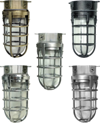 Woods L1706 Rustic Security Ceiling Light - Ceiling Mount Security Light Vandal Resistant Die cast aluminum with decorative finish applied Tempered glass with vapor tight seal - Ship Lights – Three Styles - myDesign42