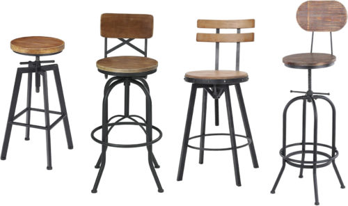 Vintage Industrial Drafting Stools