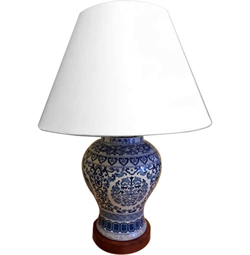 Ralph Lauren Blue and White Chinoiserie Table Lamp