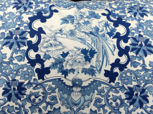 Ralph Lauren Asian Patern in Blue and White with Pheasants - Ralph Lauren Chinoiserie