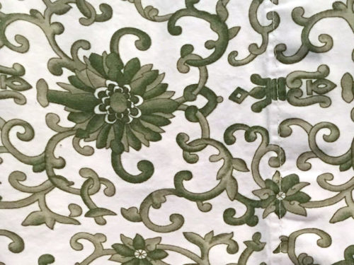 Ralph Lauren in Olive Green - I think this is Tamarind Scroll - Ralph Lauren Chinoiserie
