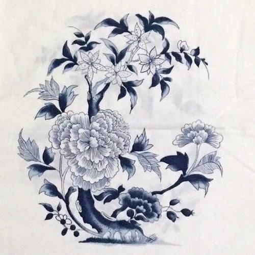 Ralph Lauren Medallion Pattern in Blue and White - Ralph Lauren Chinoiserie