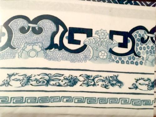 Ralph Lauren Asian Shantung Pagoda Pattern in Blue and White - Ralph Lauren Chinoiserie