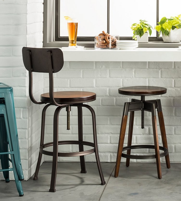 Terrific Vintage Industrial Drafting Stools My Design42 Pabps2019 Chair Design Images Pabps2019Com