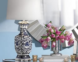 Traditional Blue and White and Blue Willow Table Lamps