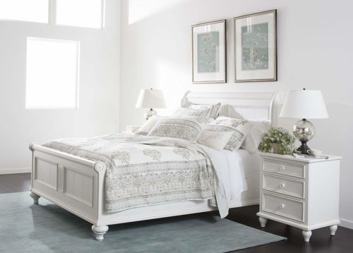 Bedroom with Ethan Allen Robyn Sleigh Bed – my Design42
