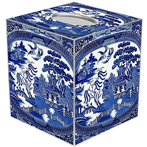 Blue Willow Tissue Box Cover - Blue Willow Bathroom Accessories - myDesign42