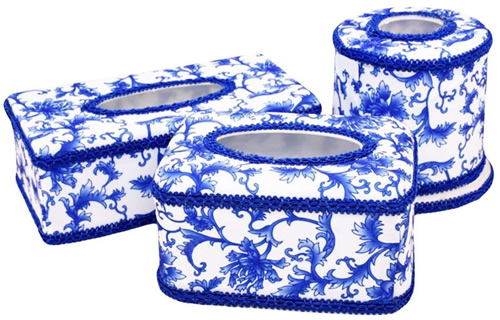 George Jimmy Creative Blue And White Tissue Boxes - Blue Willow Bathroom Accessories - myDesign42