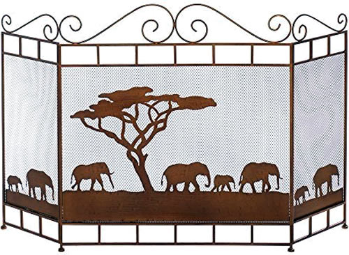 Savannah Fireplace Screen Eye-catching and Practical Fireplace Screens – my Design42
