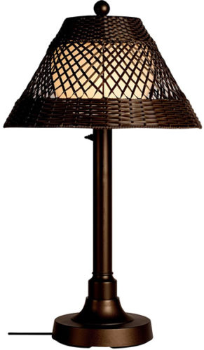 Patio Living Concepts 15217 Java Outdoor Table Lamp with an unbreakable opal polycarbonate light bulb enclosure - Table Lamps for Your Porch - Deep Discount Lighting