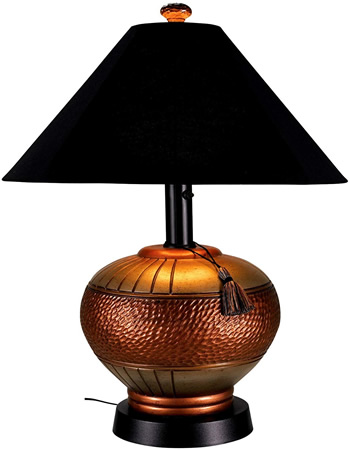 Patio Living Concepts 53917 Phoenix Outdoor Table Lamp has a heavy weighted base. - Table Lamps for Your Porch - Deep Discount Lighting
