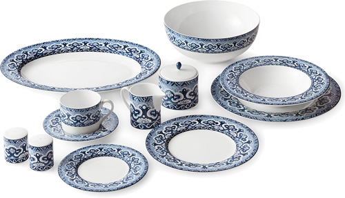 Ralph Lauren Empress Collection - Ralph Lauren Blue and White Chinoiserie Fine China Dinnerware- my Design42