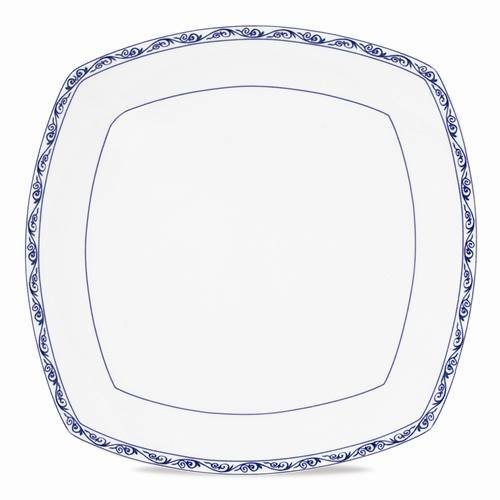 "Ralph Lauren Mandarin Blue 10"" Square Dinner Plate - Ralph Lauren Blue and White Chinoiserie Fine China Dinnerware- my Design42"
