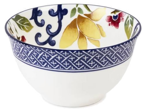 "Ralph Lauren Mandarin Blue Floral 4.5"" Fruit Bowl - Ralph Lauren Blue and White Chinoiserie Fine China Dinnerware- my Design42"