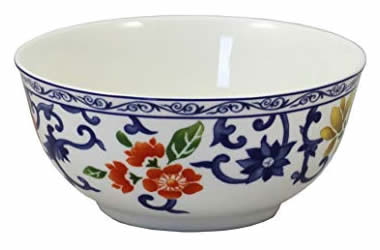 Ralph Lauren Mandarin Blue Floral Cereal Bowl - Ralph Lauren Blue and White Chinoiserie Fine China Dinnerware- my Design42