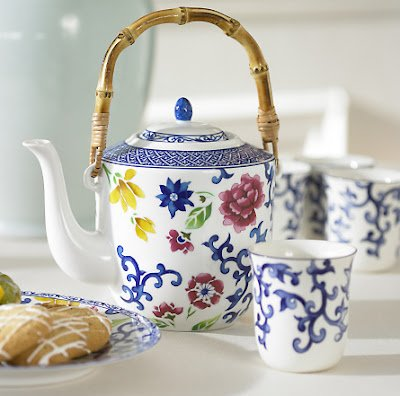 Ralph Lauren Mandarin Blue and Mandarin Blue Floral Fine China Tea Set - Ralph Lauren Blue and White Chinoiserie Fine China Dinnerware- my Design42