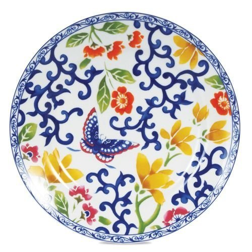 Ralph Lauren Mandarin Blue Floral Brunch Accent Plate - Ralph Lauren Blue and White Chinoiserie Fine China Dinnerware- my Design42