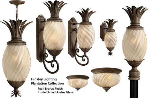 Hinkley Lighting Plantation Outdoor Lighting Collection is the pineapple lighting at Pollo Tropical - Pineapple Lighting at Pollo Tropical – myDesign42