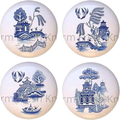 Farm Fresh Knobs & Pulls Blue Willow Knobs - Blue Willow Cabinet Pulls and Handles – myDesign42