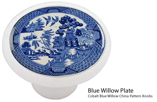 Blue Willow Plate Ceramic Drawer Knob - Blue Willow Cabinet Pulls and Handles – myDesign42