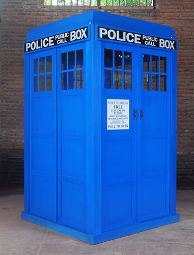 The Tardis assembles easily and can also be taken back down to store or move. - Love The Doctor? Full Size Police Call Box Tardis – Doctor Who Gift