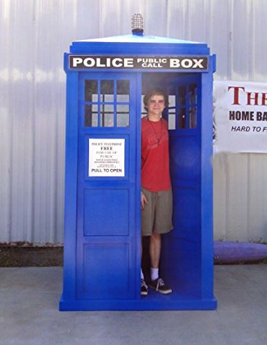 "The door is 75.5"" high, 20"" wide. (You decide who to give a key to.) - Love The Doctor? Full Size Police Call Box Tardis – Doctor Who Gift"