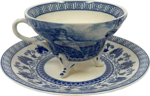 Liberty Blue Tea Cup and Saucer from the Madison Bay Company
