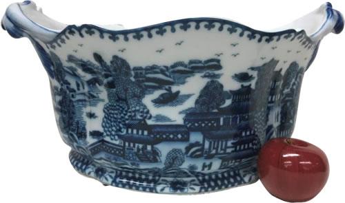 """Blue Willow19"""" Foot Bath Porcelain Planter"""