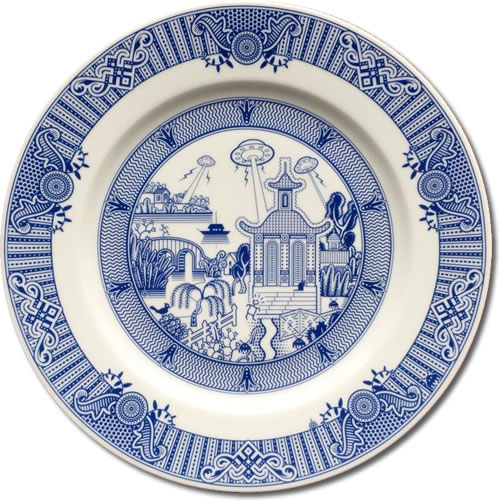 UFO Invasion - CalamityWare: Fun Twist on Blue Willow – myDesign42