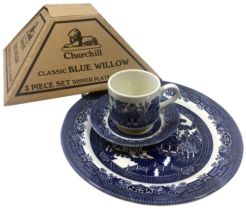 My first Churchill Blue Willow China from the grocery store - Blue Willow China - It's really not hard to find now