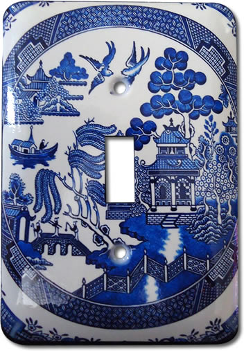 Jessies Design Industries Blue Willow Light Switch Cover Plate
