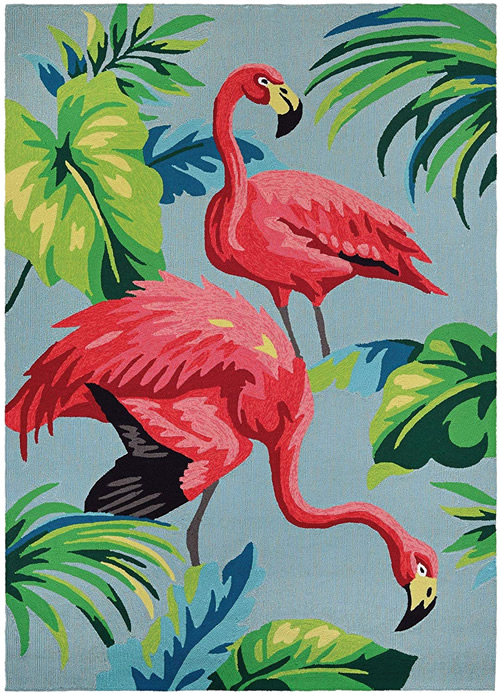 Pink Flamingos Dream Decor Rugs of Miami - Kitschy Tropical Splendor - 1950s Flamingos