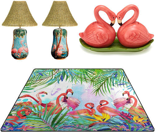 Fun Kitschy Flamingos