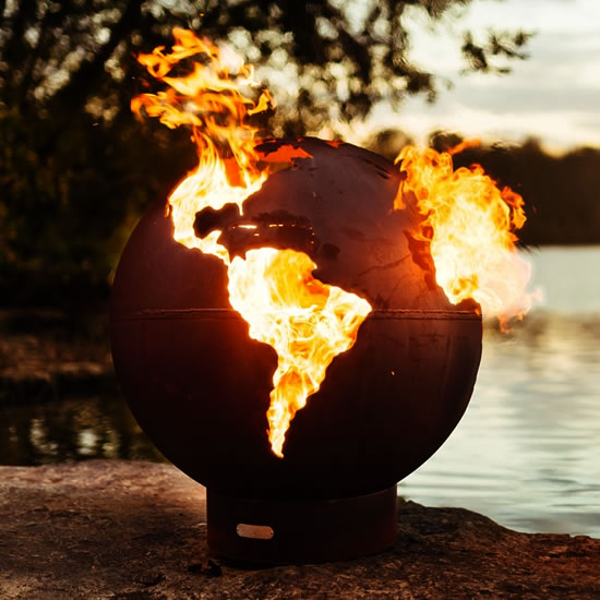 Third Rock Fire Pit made by Fire Pit Art - Third Rock Fire Pit, Fire Globe from Fire Pit Art – My design42