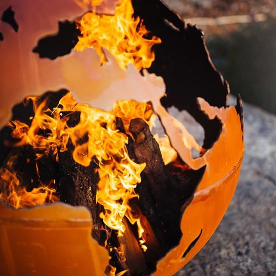 Third Rock Fire Pit made by Fire Pit Art - Third Rock Fire Pit, Fire Globe from Fire Pit Art – My design42