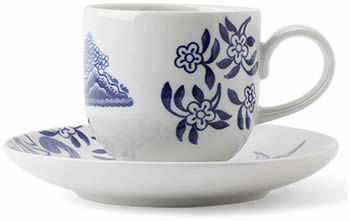 Small cup with saucer - Loveramics Willow Love Story Pattern Dishes - My design42