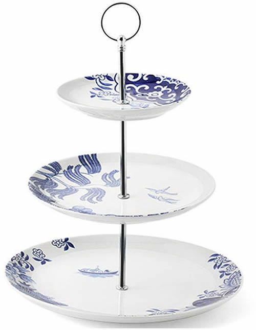 Loveramics Willow Love Story 3-Tier Cake Stand - Blue Willow 2-Tier and 3-Tier Servers and Cake Stands - myDesign42