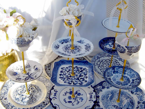 Blue Willow 3-Tier Servers from Cake Stands Boutique on eBay - Blue Willow 2-Tier and 3-Tier Servers and Cake Stands - myDesign42