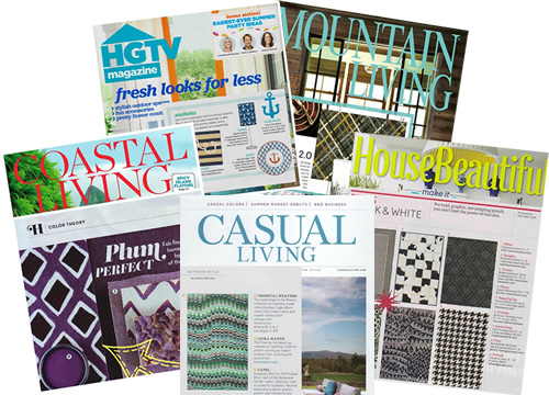Liora Manné rugs have been featured in a lot of magazines like House Beautiful, Interior Design, Coastal Living, Casual Living and HGTV Magazine.