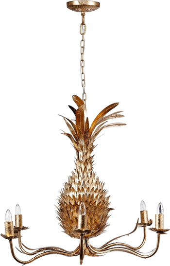A & B Home 43061 Pineapple Chandelier