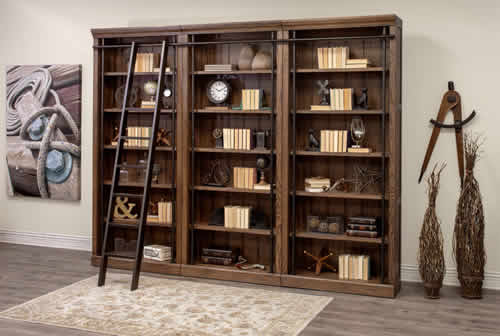 Martin Furniture Avondale Bookcases AE4094 with Metal Ladder IMTE402