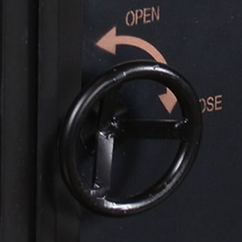 The handle looks like the handle on a safe Bank Vault Safe End Tables