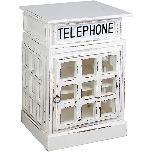 British Phone Booth and Bank Vault Safe End Tables