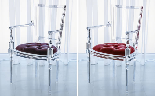 Marilyn Acrylic Chairs and Benches