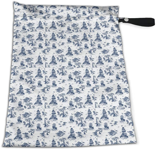 Blue Willow Toile Reusable Zip Bag