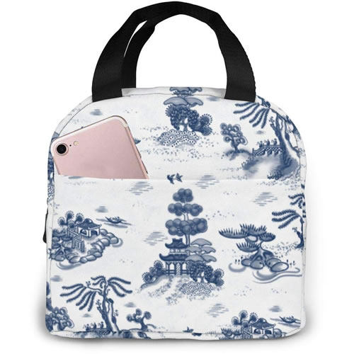 Blue Willow Toile Lunch Bag