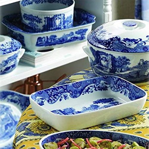 Mix and match pieces from Spode's Blue Room Collection